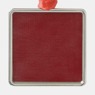 Brushed Linen Texture // Crimson Ornaments