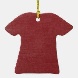 Brushed Linen Texture // Crimson Christmas Tree Ornament