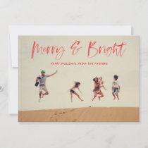 Brushed Merry and Bright Holiday Photo Card