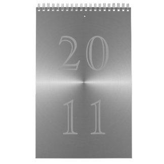 brushed metal 2011 calendar