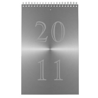 brushed metal 2011 calendar