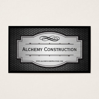 Brushed Metal and metal grate business cards