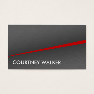 Brushed metal and red & dual sided business cards