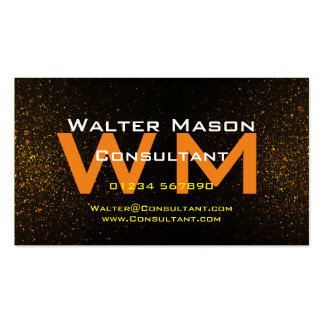 Brushed Metal Black Red Gold Consultant Create Business Card