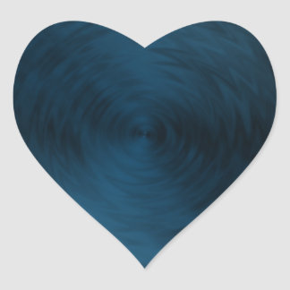Brushed Metal Blue Steel Metallic Abstract Heart Sticker
