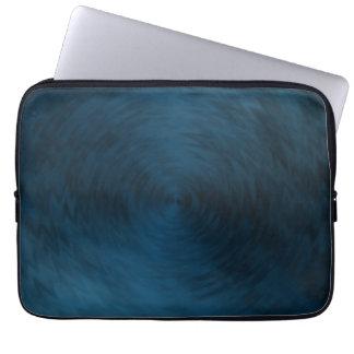 Brushed Metal Blue Steel Metallic Abstract Laptop Sleeve