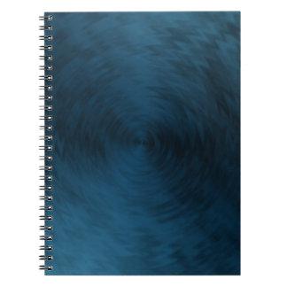 Brushed Metal Blue Steel Metallic Abstract Notebook