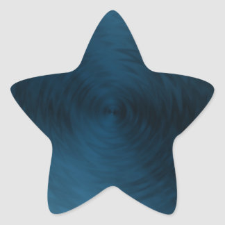 Brushed Metal Blue Steel Metallic Abstract Star Sticker