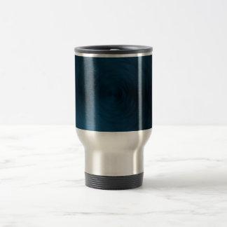 Brushed Metal Blue Steel Metallic Abstract Travel Mug