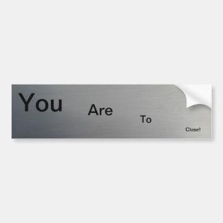 Brushed Metal Bumper Sticker