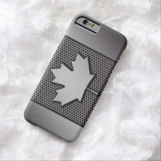 Brushed Metal Canadian Flag Barely There iPhone 6 Case