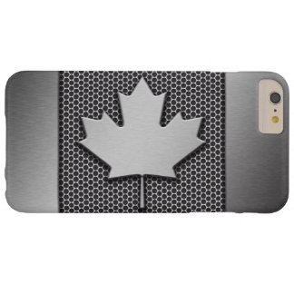 Brushed Metal Canadian Flag Barely There iPhone 6 Plus Case