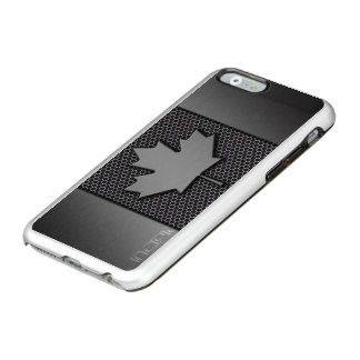 Brushed Metal Canadian Flag Incipio Feather Shine iPhone 6 Case