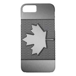 Brushed Metal Canadian Flag iPhone 7 Case