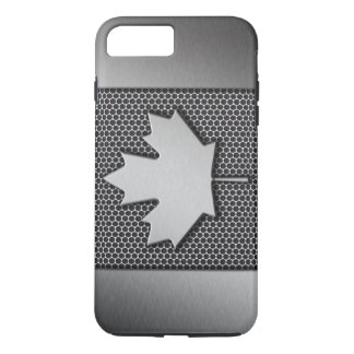Brushed Metal Canadian Flag iPhone 8 Plus/7 Plus Case