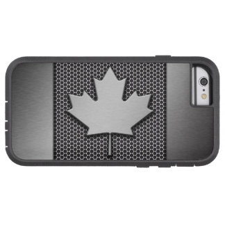 Brushed Metal Canadian Flag Tough Xtreme iPhone 6 Case