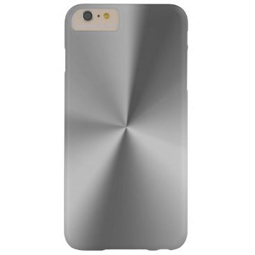 Brushed metal barely there iPhone 6 plus case