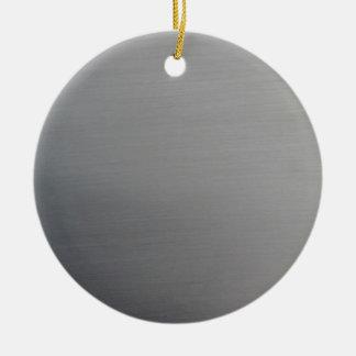 Brushed Metal Christmas Tree Ornament