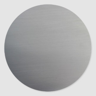 Brushed Metal Classic Round Sticker