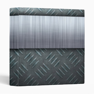 Brushed Metal Diamond Plate Template Binder