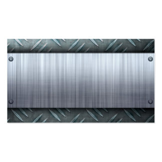 Brushed Metal Diamond Plate Template Business Card Template