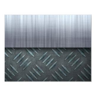 Brushed Metal Diamond Plate Template Card