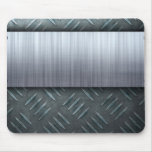 Brushed Metal Diamond Plate Template Mouse Pad