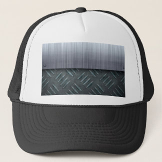 Brushed Metal Diamond Plate Template Trucker Hat