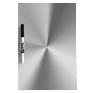 Brushed metal dry erase board