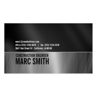 Brushed Metal Frame Business Card Two Sided