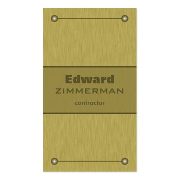 Brushed Metal: Gold Textured Business Card