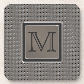 Brushed Metal Grille Look with Monogram Coasters
