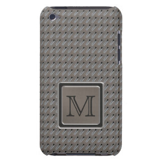 Brushed Metal Grille Look with Monogram iPod Touch Case