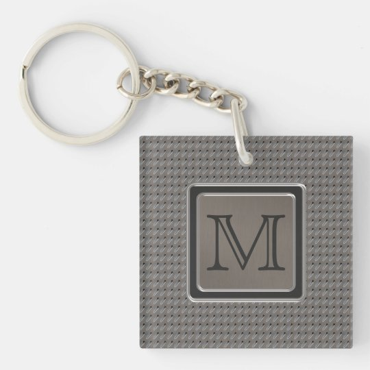 Brushed Metal Grille Look with Monogram Keychain