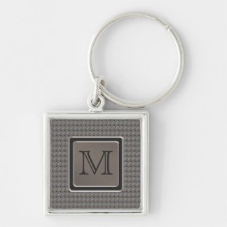 Brushed Metal Grille Look with Monogram Key Chains