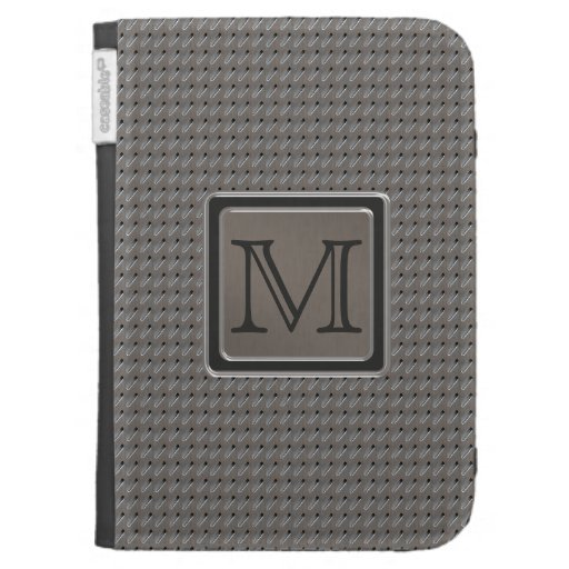 Brushed Metal Grille Look with Monogram Kindle Covers