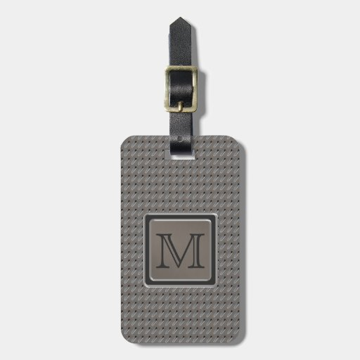 Brushed Metal Grille Look with Monogram Luggage Tags