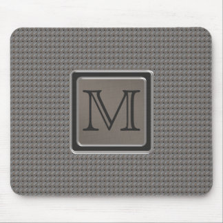 Brushed Metal Grille Look with Monogram Mouse Pad