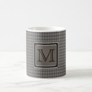 Brushed Metal Grille Look with Monogram Classic White Coffee Mug