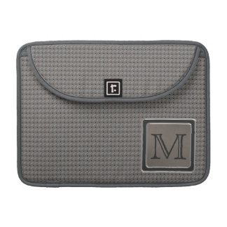 Brushed Metal Grille Look with Monogram Sleeve For MacBook Pro
