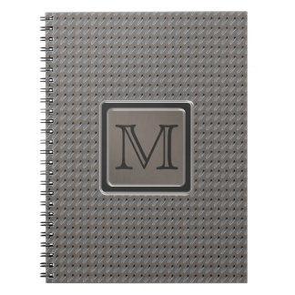 Brushed Metal Grille Look with Monogram Spiral Notebook