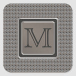 Brushed Metal Grille Look with Monogram Square Stickers