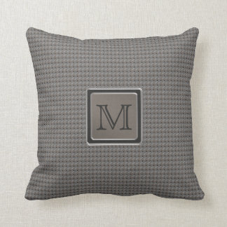 Brushed Metal Grille Look with Monogram Throw Pillow