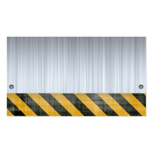 Brushed Metal Hazard Construction Layout Business Card