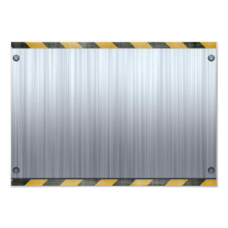 Brushed Metal Hazard Construction Layout Card