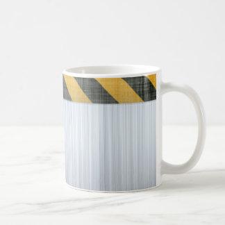 Brushed Metal Hazard Construction Layout Coffee Mug