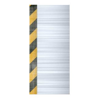 Brushed Metal Hazard Construction Layout Rack Card