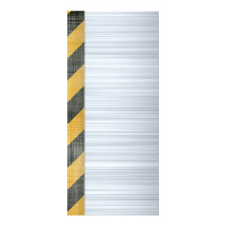 Brushed Metal Hazard Construction Layout Custom Rack Cards