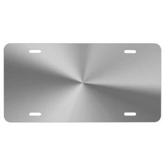 Brushed metal license plate