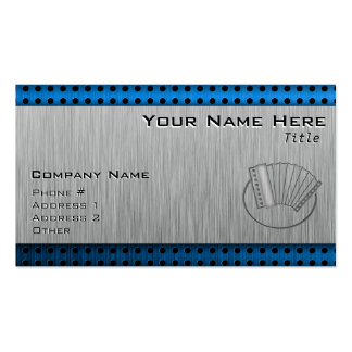 Brushed metal-look Accordion Business Card